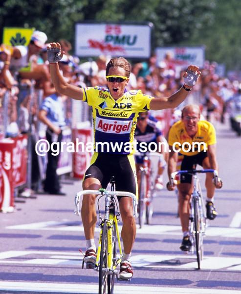 GREG LEMOND WINS A STAGE OF THE 1989 TOUR DE FRANCE