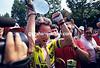 Greg Lemond realises he has just won the 1989 Tour de France
