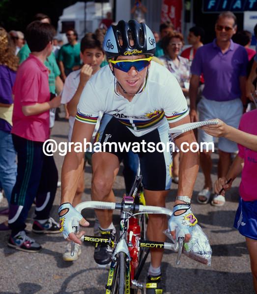 Greg. LeMond in the 1990 Tour de France