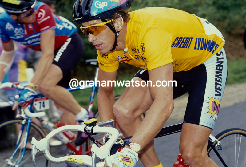 Greg. LeMond in the 1991 Tour de France