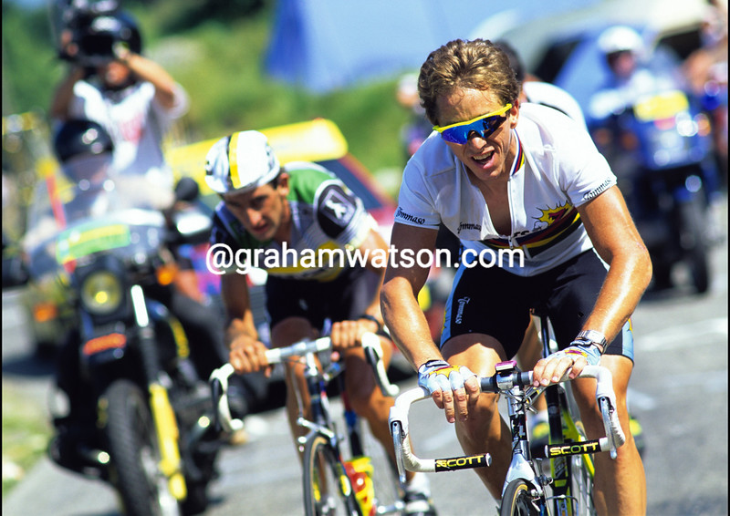 GREG LEMOND ATTACKS AT THE 1990 TOUR DE FRANCE