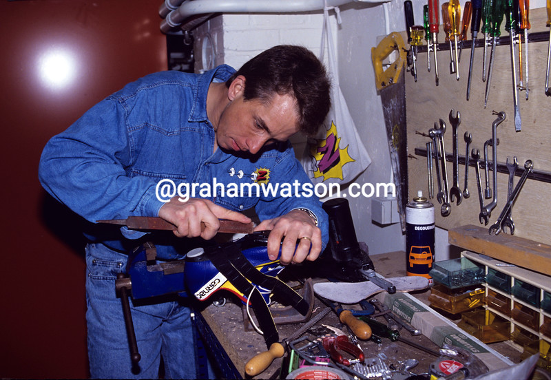 Greg Lemond at home in 1992