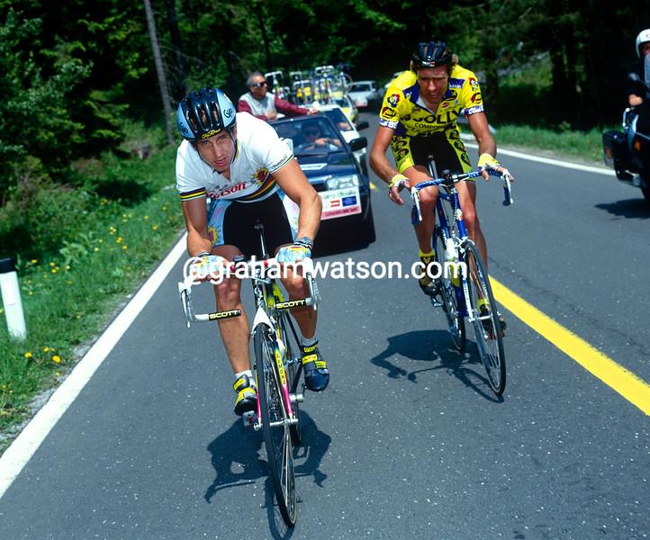 Greg LeMond in the 1990 Giro d'Italia