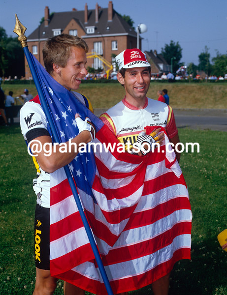 Doug Shapiro and Greg. LeMond in the 1985 Tour de France