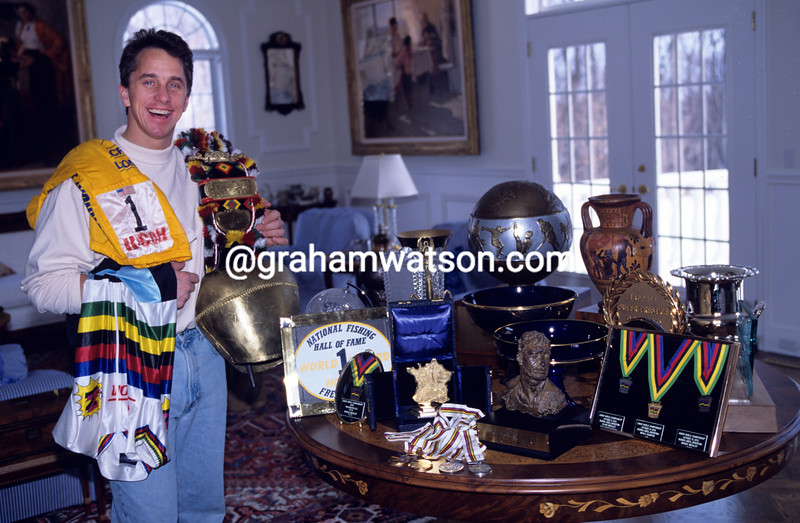 Greg Lemond at home in 1994