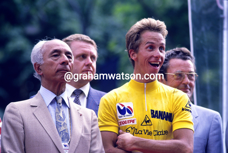 Greg Lemond and Felix Levitan in the 1986 Tour de France