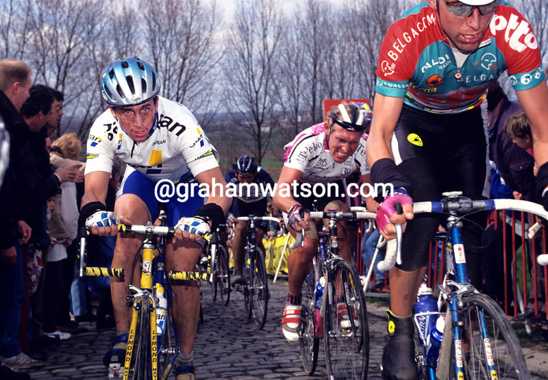 Greg Lemond in the 1993 Tour of Flanders