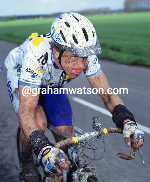 Greg Lemond in the1994 Paris-Roubaix