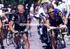 Greg Lemond and Laurent Fignon in the 1992 Tour de France