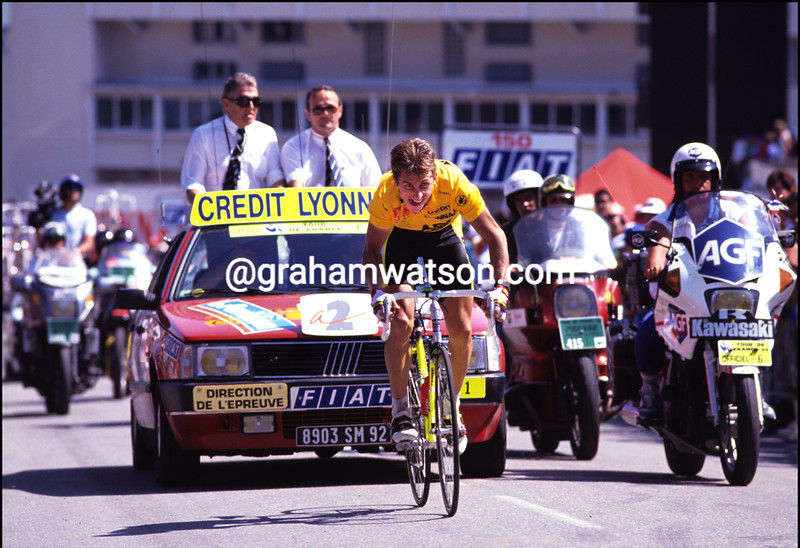 GREG LEMOND AT ALPE D'HUEZ IN THE 1989 TOUR DE FRANCE