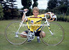 Greg Lemond after winning the 1986 Tour de France