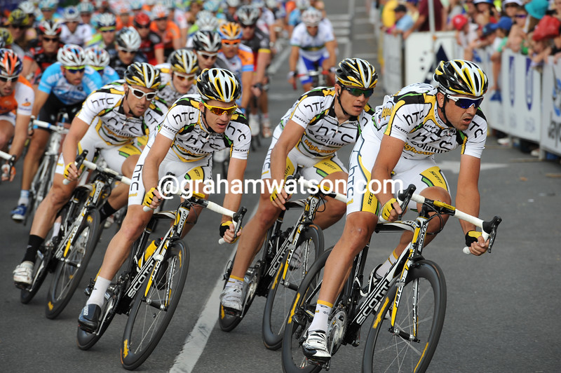 Hayden Roulston and Team Columbia in the 2010 Tour Down Under
