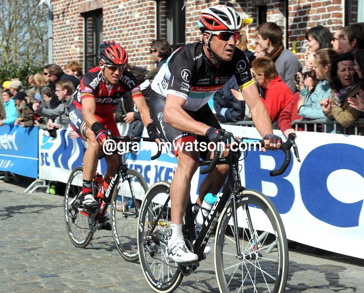 Hayden Roulston in the 2012 Tour of Flanders
