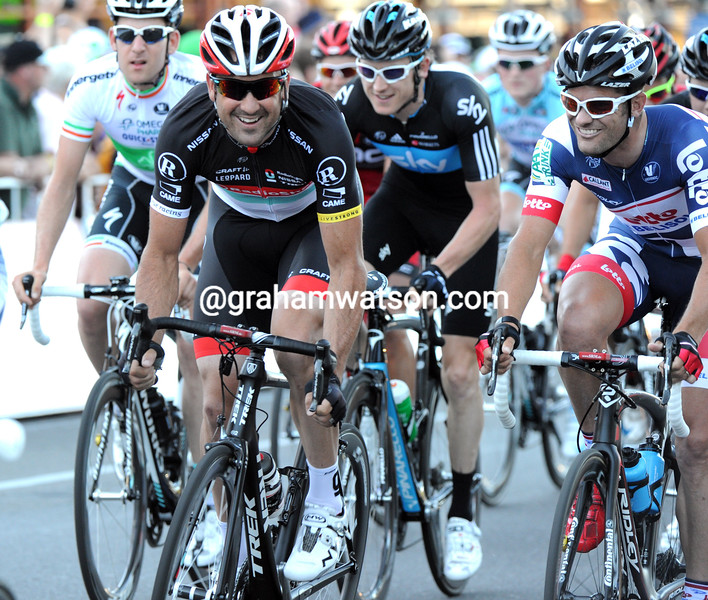 HAYDEN ROULSTON AND GREG HENDERSON IN THE 2012 SANTOS TOUR DOWN UNDER CLASSIC