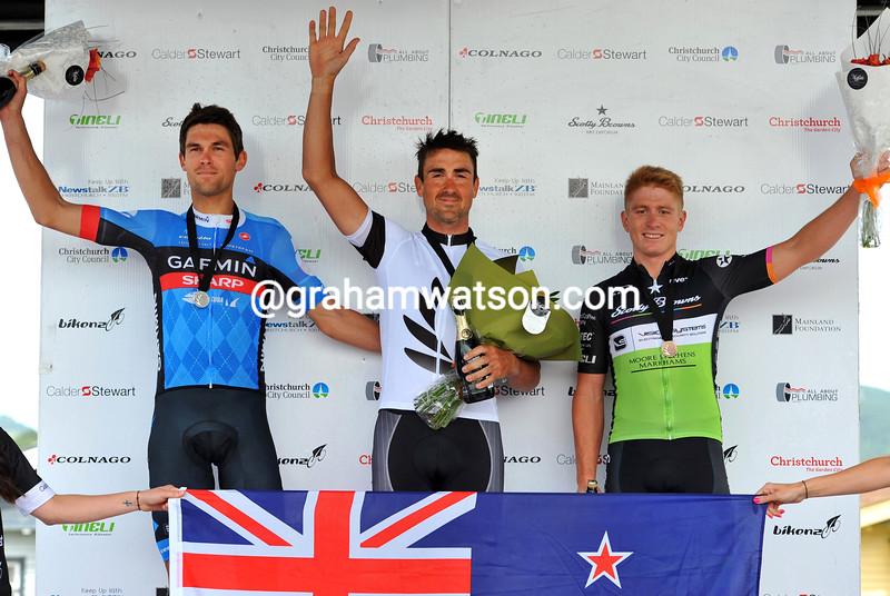 Hayden Roulston in the 2014 New Zealand Road Race championship