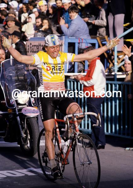 Hennie Kuiper wins the 1985 Milan-San Remo