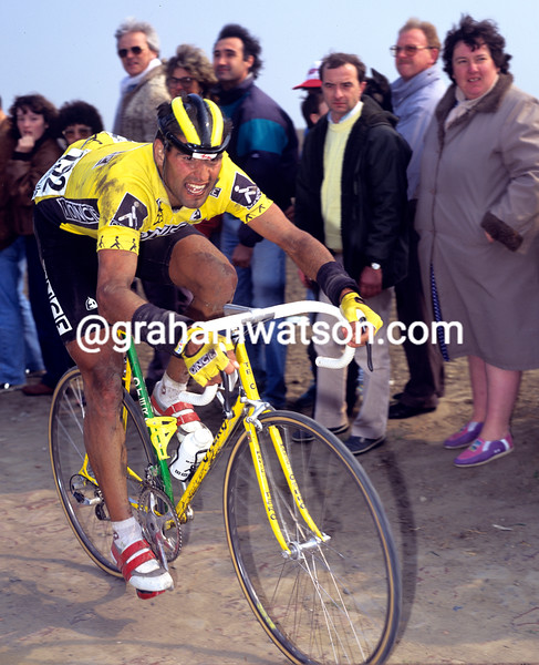 Herminio Diaz Zabala in the 1992 Paris-Roubaix