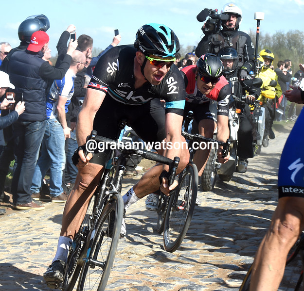 Ian Stannard in the 2016 Paris-Roubaix