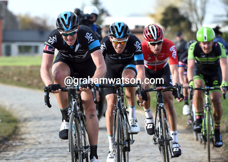 Ian Stannard in the 2015 E3 Harelbeke