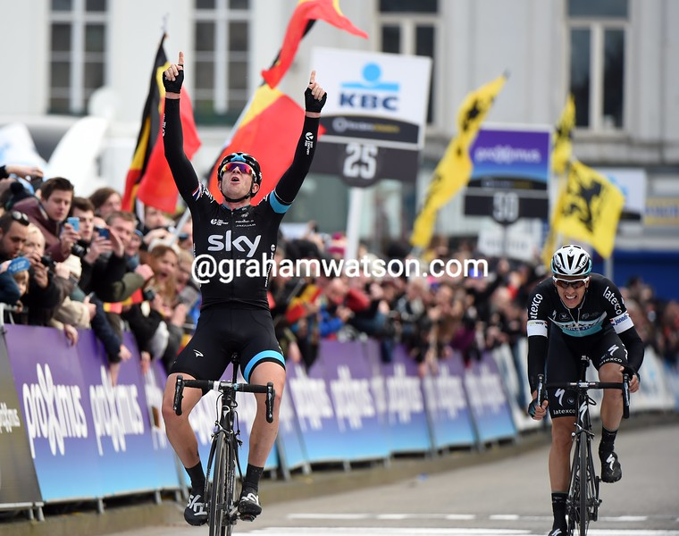 Ian Stannard wins the 2015 Omloop Het Nieuwsblad