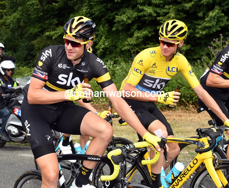 Chris Froome and Ian Stannard on stage 21 of the 2016 Tour de France