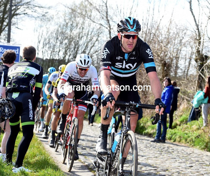 Ian Stannard in the 2016 E3 Harelbeke