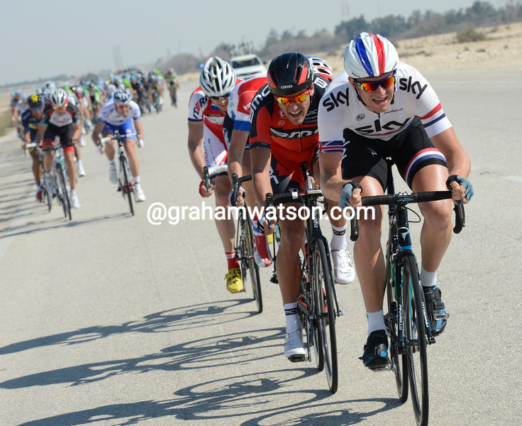 Ian Stannard attacks on stage 5 of the 2013 Tour of Qatar