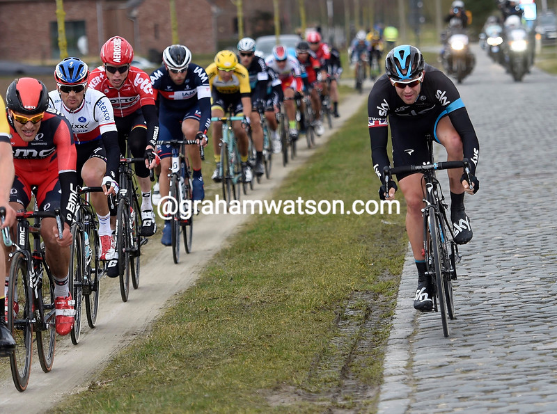 Ian Stannard in the 2015 Kuurne-Brussels-Kuurne