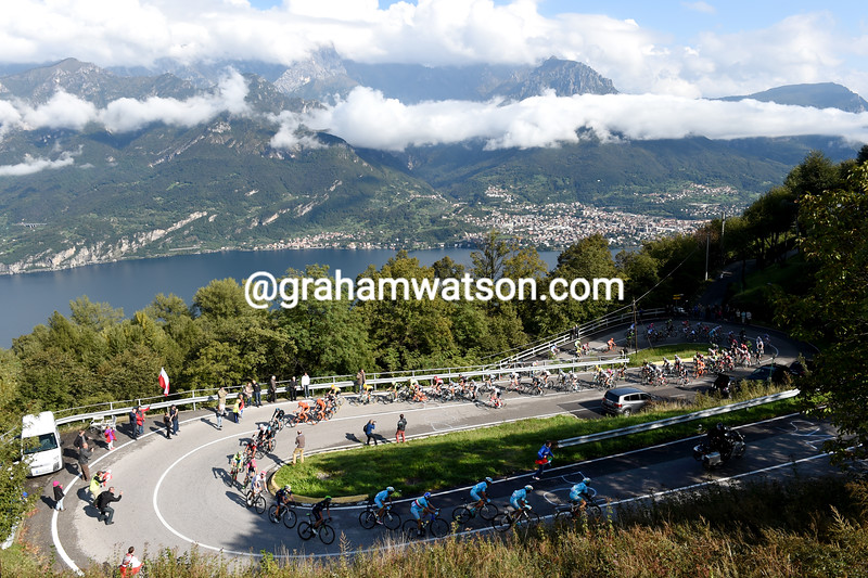 The 2015 Giro di Lombardia climbs the Madonna del Ghisallo