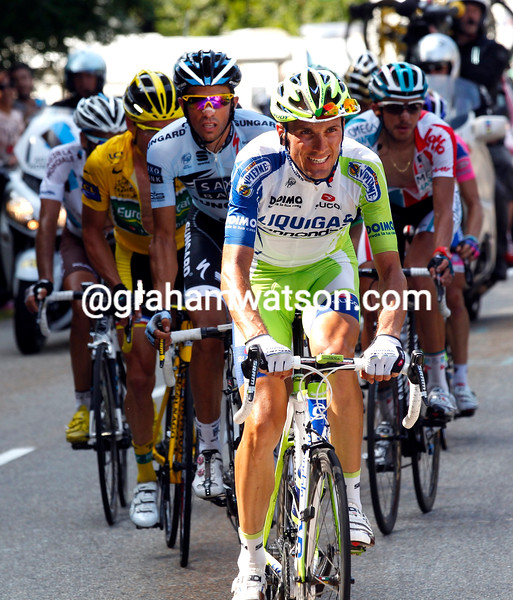 IVAN BASSO ON STAGE FOURTEEN OF THE 2011 TOUR DE FRANCE