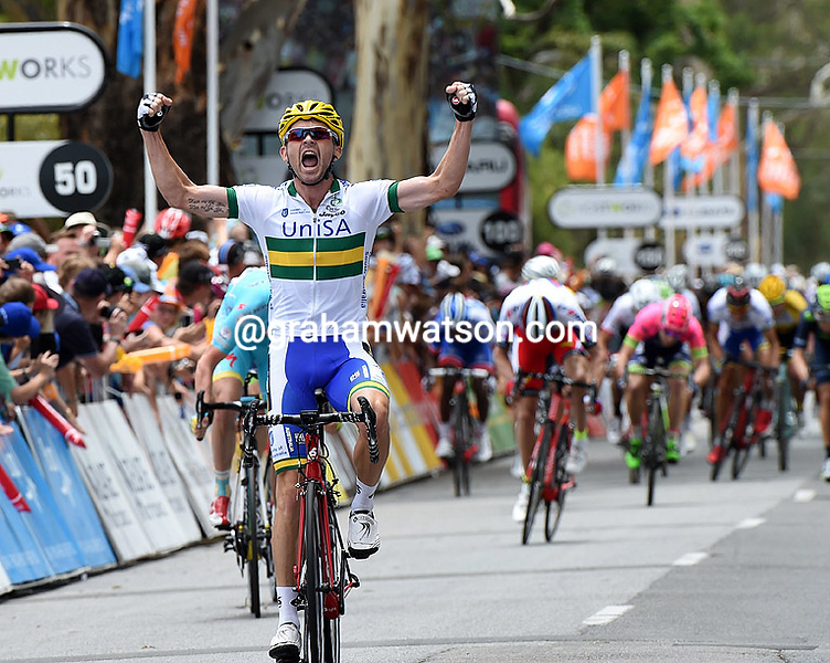 Jack Bobridge wins stage one of the 2015 Tour Down Under