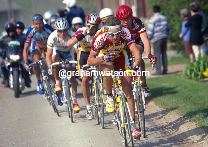 Jacky Durand in the 1997 Paris-Roubaix