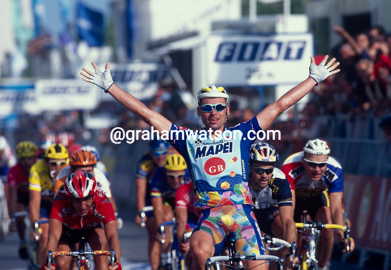 Jan Svorada wins a stage of the 1997 Tour of Spain