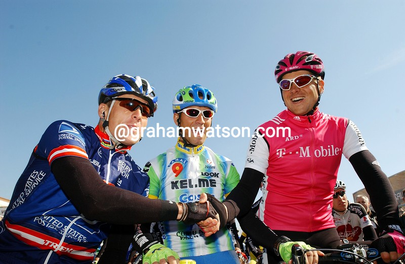 Lance Armstrong and Jan Ullrich in the 2003 Tour of Murcia