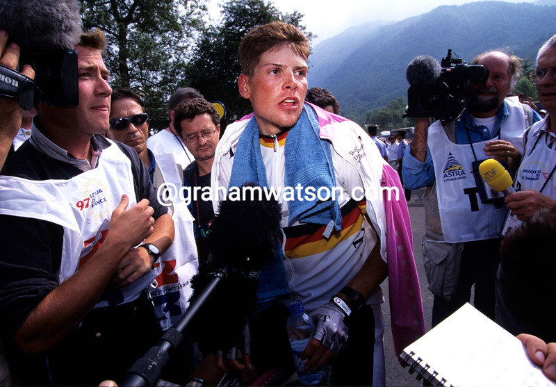 Jan Ullrich in the 1997 Tour de France