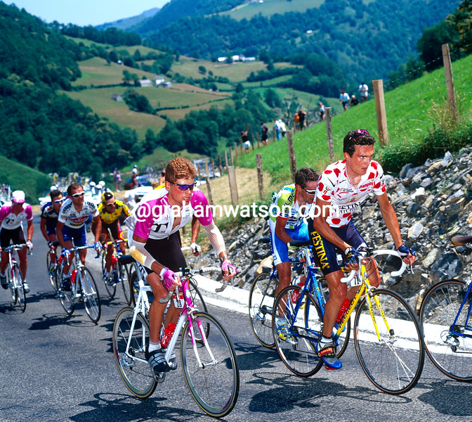 Jan Ullrich and Richard Virenque in the 1996 Tour de France