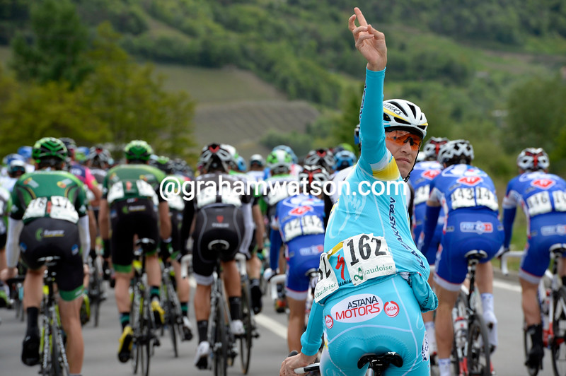 Janez Brajkovic on stage one of the 2014 Tour de Roamndie