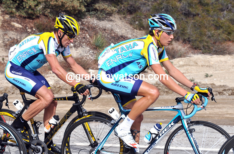 JANI BRAJKOVIC AND LANCE ARMSGTRONG ON STAGE SEVEN OF THE 2009 TOUR OF CALIFORNIA