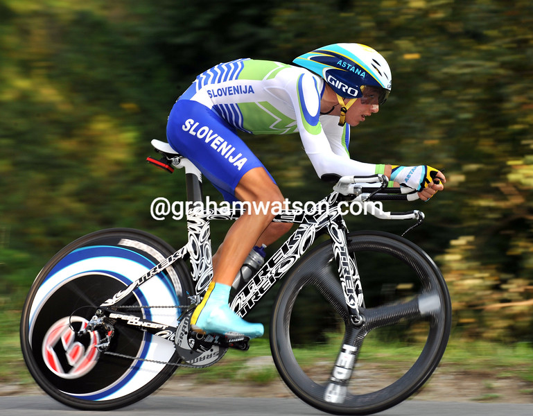 JANEC BRAJKOVIC IN THE 2009 WORLD TIME TRIAL CHAMPIONSHIPS