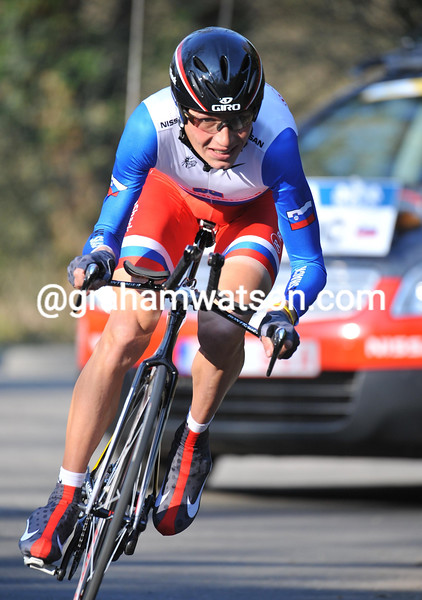 JANI BRAJKOVIC IN THE PROLOGUE OF THE 2010 PARIS-NICE