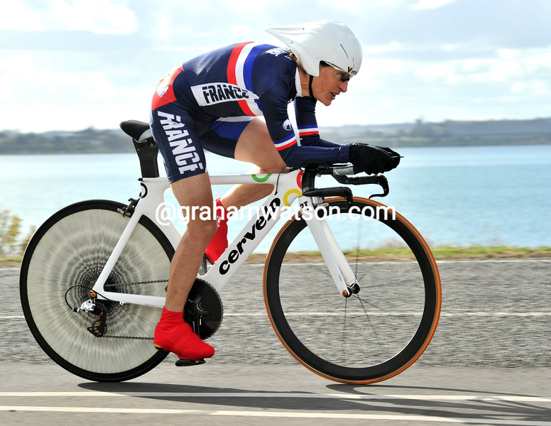 JEANNIE LONGO IN THE WORLD ROAD TIME TRIAL CHAMPIONSHIPS