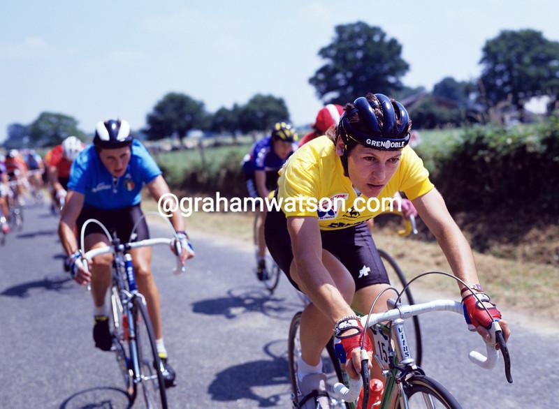 Jeannie longo in the 1985 Tour de France feminin