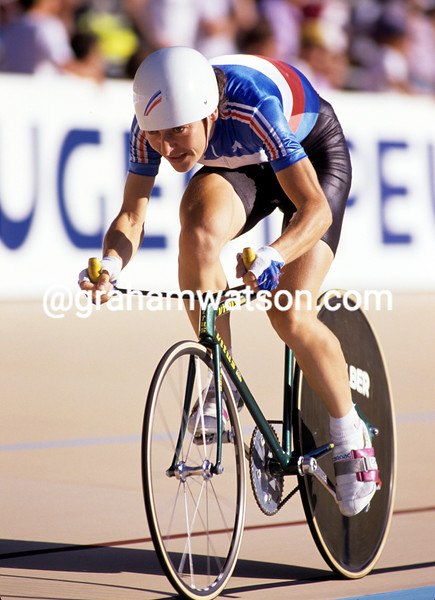 Jeannie Longo in the 1989 World Pursuit Championships