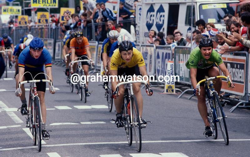 Jeannie Longo beats Heleen Hage in the 1985 Tour Feminin