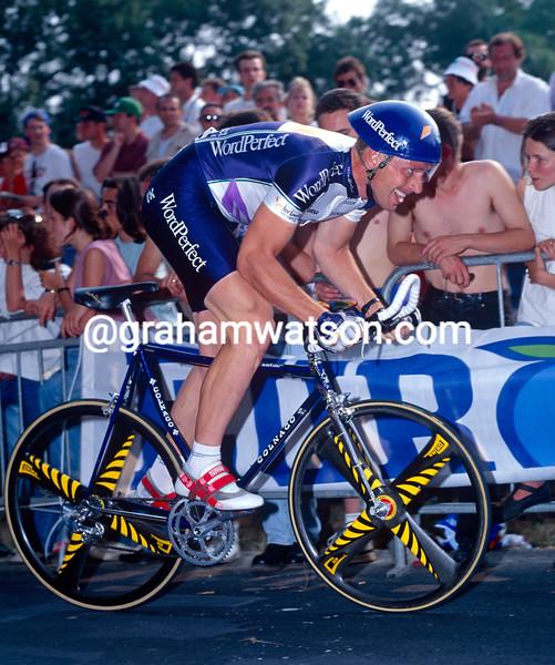 Jelle Nijdam in the 1991 Tour de France