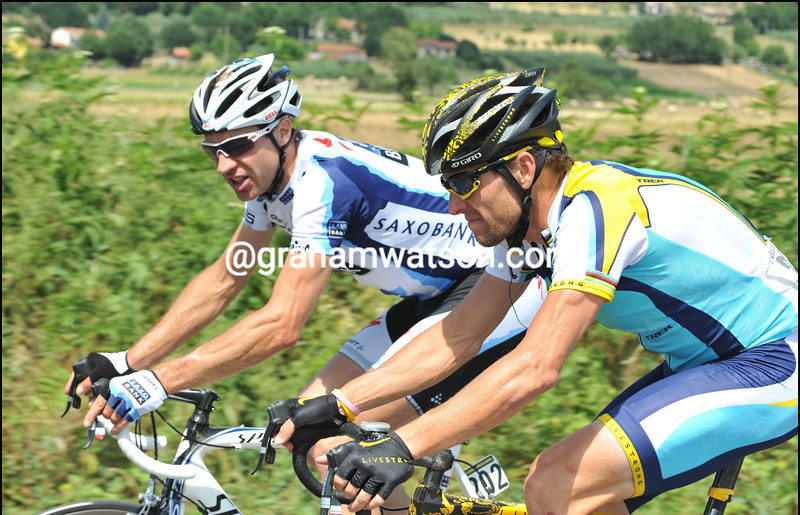 LANCE ARMSTRONG AND JENS VOIGT ON STAGE TWENTY OF THE 2009 GIRO DÕITALIA