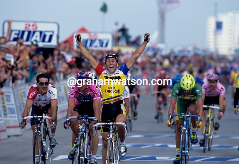 Jeroen Blijlevens wins a stage of the 1996 Tour de France