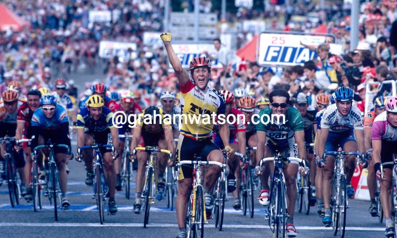 Jeroen Blijlevens wins a stage in the 1996 Tour de France