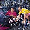 Jesus Montoya with Javier Minguez in the 1993 Vuelta a España