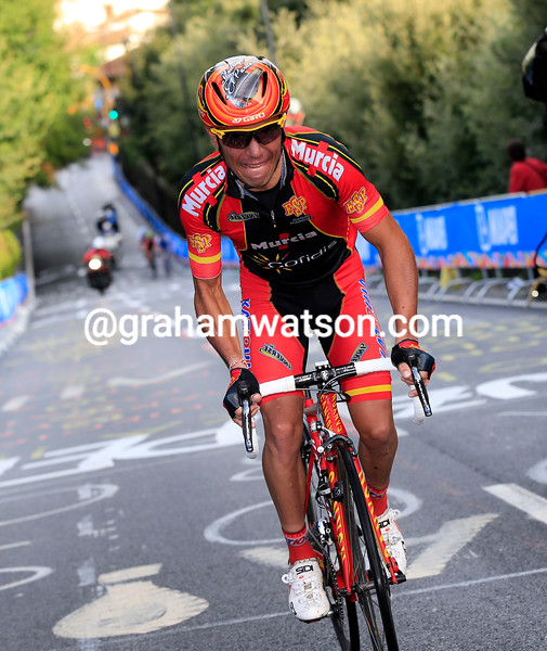 Joaquim Rodriguez attacks the last climb of the 2013 World Championships